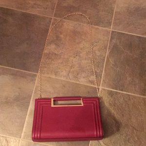 Melie Bianco red leather handbag/shoulder bag